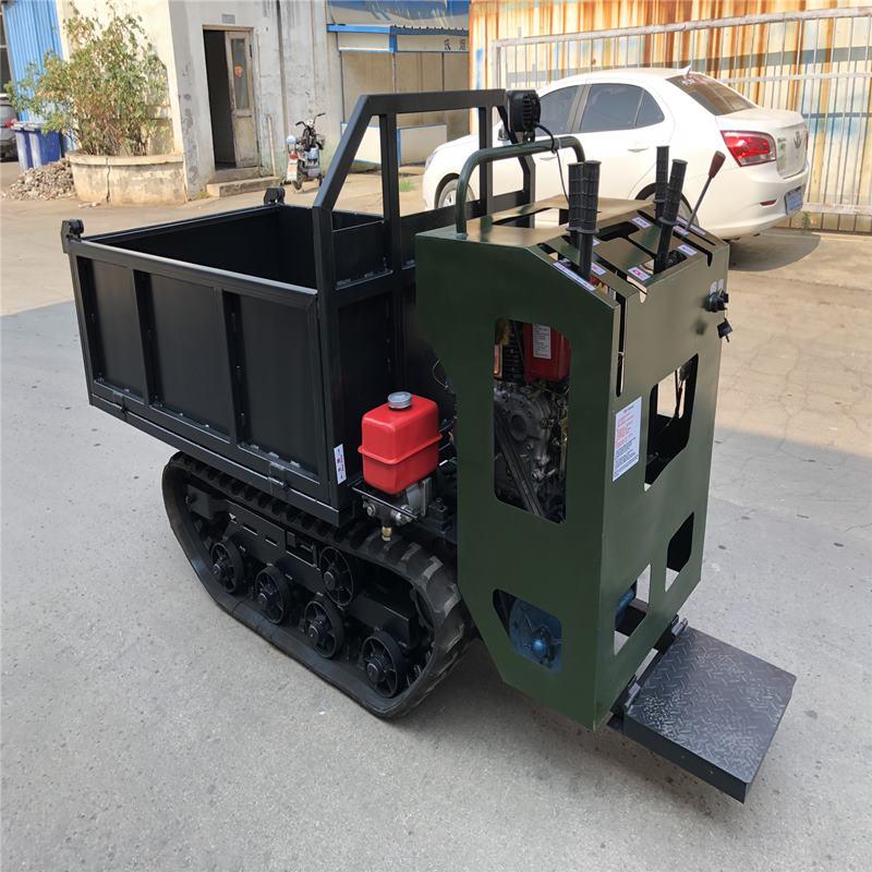 厂家直销履带车小型农用自行走运输车1T手扶履带车